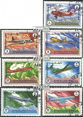 Afghanistan 1353-1359 (complete issue) used 1984 40 J. National
