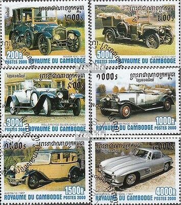 Cambodia 2116-2121 (complete issue) used 2000 Old Automobile