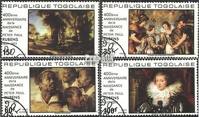 Togo 1245A-1248A (complete issue) used 1977 400. Birthday of Ru