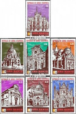 Equatorial-Guinea 363-369 (complete issue) used 1974 Italian wo