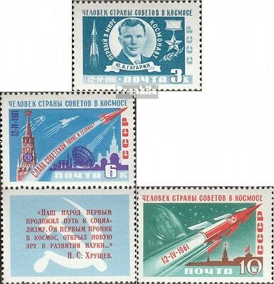 Soviet-Union 2473A-2475A (complete issue) used 1961 Soviet. Spa