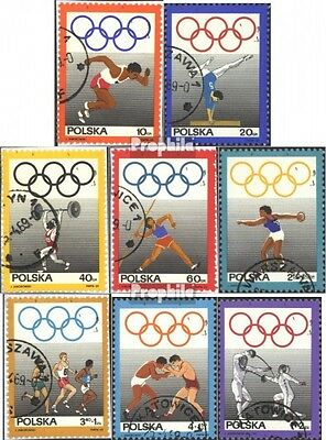 Poland 1908-1915 (complete issue) used 1969 polish. Olympic Com