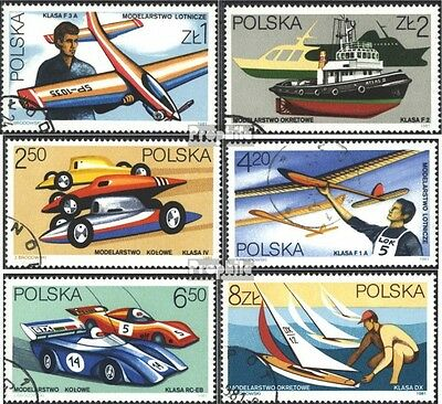 Poland 2757-2762 (complete issue) used 1981 Model Sport