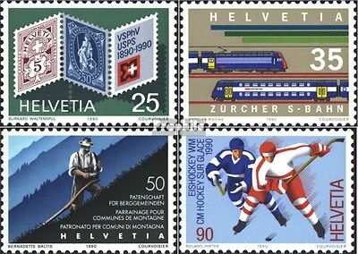 Switzerland 1409-1412 (complete issue) used 1990 Years events