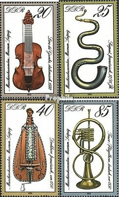 DDR 2445-2448 (complete.issue) used 1979 Musical Instruments