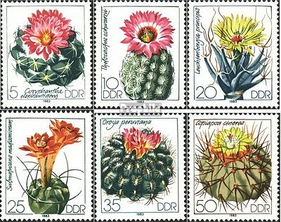 DDR 2802-2807 (complete.issue) used 1983 Cacti