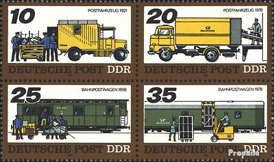 DDR 2299-2302 block of four (complete.issue) used 1978 Transpor