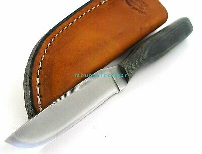 Anza USA Utility Hunter File Work Blade Micarta Handle Knife AZ108M