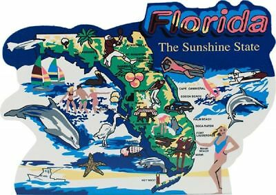 Cat's Meow Village US MAP Florida The Sunshine State #RA657 NEW Ship Discounts