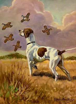 Vintage POINTER Dog Print 1950s Bird Hunting Dog Print Gallery Wall Art 874