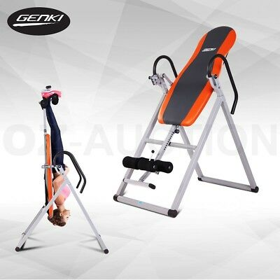 Genki Gravity Inversion Table Folding Upside Down Back Pain Exercise Fitness