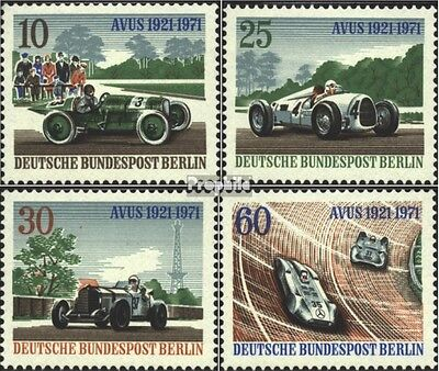 Berlin (West) 397-400 (complete.issue) used 1971 Avus-Race