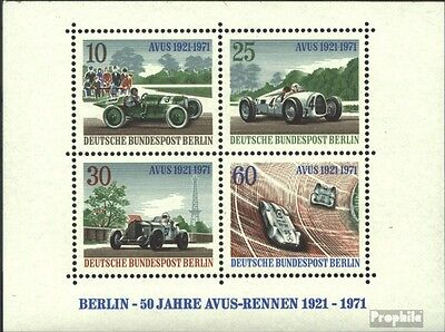 Berlin (West) block3 (complete.issue) used 1971 Avus-Race