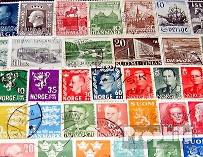 Northern Europe 100 different stamps