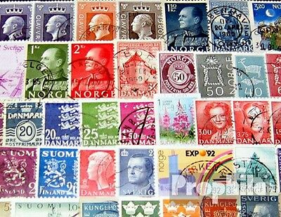 Northern Europe 150 different stamps
