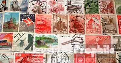 Northern Europe 100 different  special stamps and large