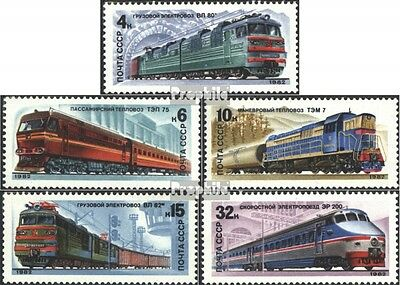 Soviet-Union 5175-5179 (complete issue) used 1982 Locomotives