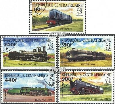Central African republic. 1026-1030 (complete issue) used 1984