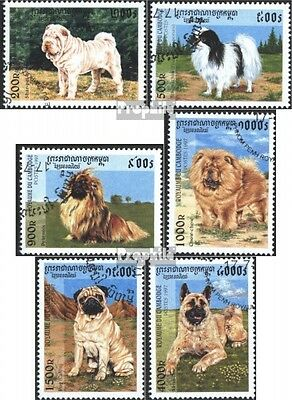 Cambodia 1731-1736 (complete issue) used 1997 Breeds