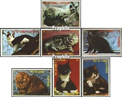 Equatorial-Guinea 1394-1400 (complete issue) used 1978 Cats