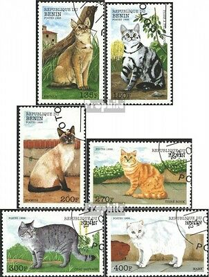 Benin 1056-1061 (complete issue) used 1998 Cats