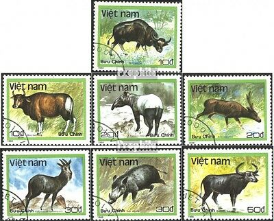 Vietnam 1981-1987 (complete issue) used 1988 Animals