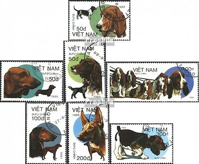Vietnam 2073-2079 (complete issue) used 1989 Dogs
