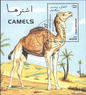 Afghanistan block92 (complete issue) used 1997 Camels