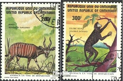 Cameroon 983-984 (complete issue) used 1982 Endangered Animals