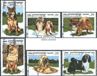 Cambodia 1906-1911 (complete issue) used 1999 Asian Breeds
