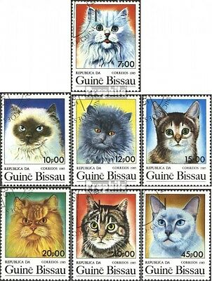 Guinea-Bissau 856-862 (complete issue) used 1985 Cats