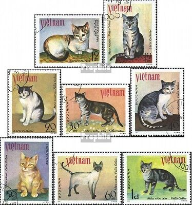 Vietnam 1063-1070 (complete.issue) used 1979 Cats