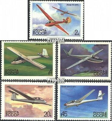 Soviet-Union 5248-5252 (complete issue) used 1983 Gliders