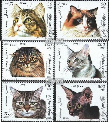Afghanistan 1726-1731 (complete issue) used 1997 Cats