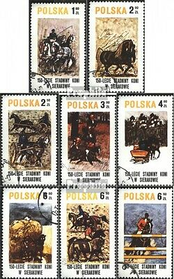 Poland 2664-2671 (complete issue) used 1980 150 years Horse in