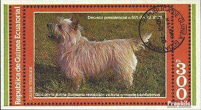 Equatorial-Guinea block309e (complete issue) used 1978 Dogs