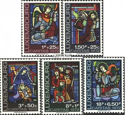 Luxembourg 853-857 (complete issue) unmounted mint / never hinged 1972 Caritas