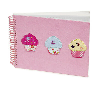 5 x Job Lot Girls Pink Cupcake Note Books Gift Party Bag NB-8101 By Katz