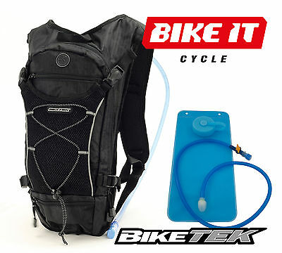 New Biketek Hydration Pack - Ruck Sack Backpack 2 Litre Mountain Bike Mtb Cycle