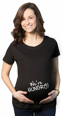 Maternity We're Hungry Funny Baby Bump Pregnancy Announcement T shirt
