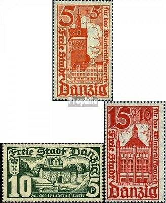 Gdansk 256-258 (complete issue) used 1935 Winter Relief