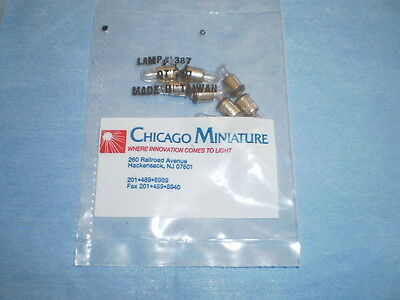 10 CHICAGO MINIATURE LAMP # 388 QTY PACK SEALED />