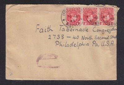 Nigeria 1943 Three Censored Covers Ikot-?, Aba Town?,  Sapele Town Cancels