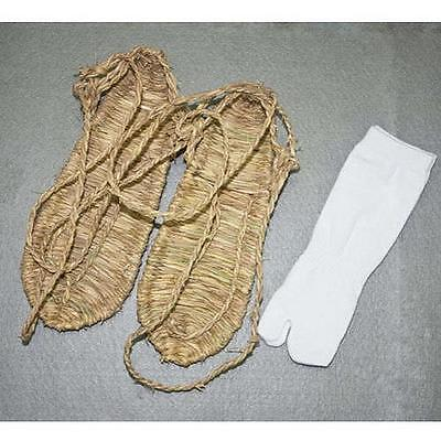 New Size L Cosplay Bleach Straw Sandals Slipper Shoes + Two Toe Sock Free C
