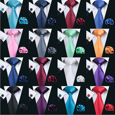 USA Classic Mens Tie 50 Colors Solid Red Blue Black Purple Pink Necktie Wedding