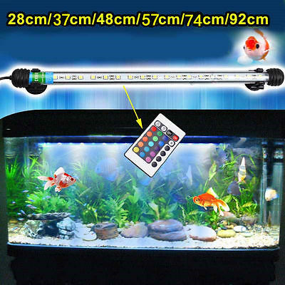 Aquarium Fish Tank Waterproof IP68 Blue White RGB LED Light Bar Lamp Submersible