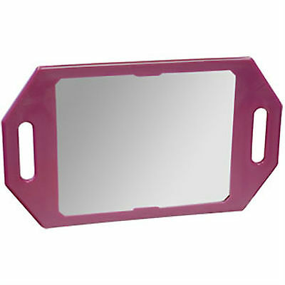 Two Handed Back Mirror PINK by Kodo Easy Use Hairdressing Mirror 35.5cm x 21cm