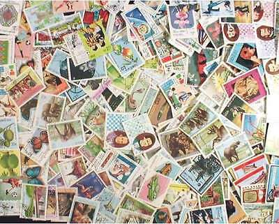 Laos Stamp Collection - 600 Different Stamps