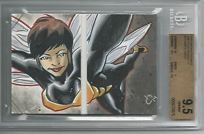 BGS 9.5 2014 Marvel Premier SKETCHES BOOKLET 1/1 Wasp by Harold Edge