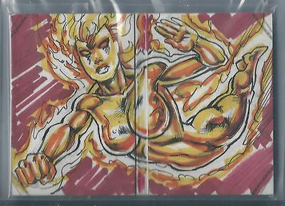 2014 Marvel Premier SKETCHES BOOKLET 1/1 Firestar by Rodney Ramos